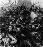 O'Reilly gave extensive coverage to the Great Railway Strike of 1877